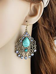 cheap -Women's Drop Earrings Long Pear Ladies Asian Basic Fashion Earrings Jewelry Green / Blue For Daily Date 1 Pair
