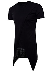 cheap -Men's Daily Basic T-shirt - Solid Colored Round Neck Black / Short Sleeve / Long