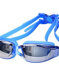 cheap -Swimming Goggles Waterproof Anti-Fog Anti-UV Dust Proof Prescription Mirrored Alloy Coating PC Whites Reds Grays