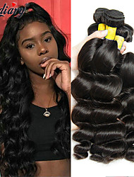 cheap -3 Bundles Mongolian Hair Wavy Human Hair One Pack Solution 8-28 inch Natural Color Human Hair Weaves Gift New Arrival Hot Sale Human Hair Extensions / 8A