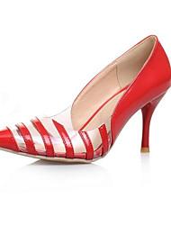 cheap -Women's Heels Stiletto Heel Closed Toe PU Comfort Spring Black / Gold / Yellow / Daily