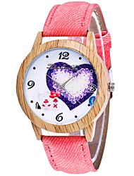 cheap -Couple's Wrist Watch Quartz Black / White / Blue Chronograph Cute Creative Analog Ladies Heart shape Fashion - Blue Pink Khaki One Year Battery Life
