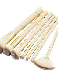 cheap -7-pcs-makeup-brushes-professional-makeup-brush-set-nylon-fiber-eco-friendly-soft-bamboo