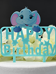 cheap -Cake Topper Classic Theme / Wedding Cut Out Acryic / Polyester Birthday with Acrylic 1 pcs PVC Box