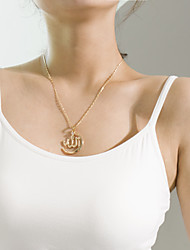 cheap -Women's Pendant Necklace Single Strand Ladies Elegant Trendy Fashion Alloy Gold Silver 45 cm Necklace Jewelry 1pc For Gift Daily