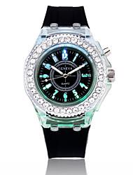 cheap -Women's Wrist Watch Diamond Watch Quartz Silicone Black / White / Blue Casual Watch Analog Ladies Fashion - Dark Blue Pink Light Blue