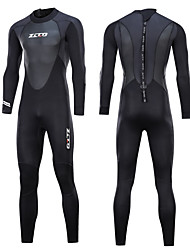 cheap -ZCCO Men's Full Wetsuit 3mm Nylon SCR Neoprene Diving Suit Thermal Warm Quick Dry Anatomic Design Long Sleeve Back Zip - Swimming Diving Water Sports Spring Summer Fall / Stretchy / Winter