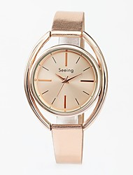 cheap -Women's Dress Watch Gold Watch Japanese Japanese Quartz Genuine Leather Gold 30 m Water Resistant / Waterproof Analog Ladies Casual Fashion - Light Blonde One Year Battery Life / Sony-SR626SW