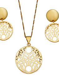 Недорогие -Жен. Серьги-кольца Ожерелья с подвесками Дамы Богемные Мода Серьги Бижутерия Золотой Назначение Для вечеринок Подарок