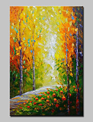 cheap -Mintura® Hand Painted Modern Abstract Knife Trees Landscape Oil Painting on Canvas Wall Art Picture for Home Decor Ready To Hang