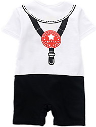 cheap -Baby Boys' Active Color Block Short Sleeves Overall & Jumpsuit White