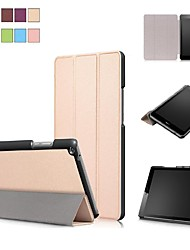 cheap -Case For Huawei Huawei MediaPad T3 8.0 with Stand / Magnetic Full Body Cases Solid Colored Hard PU Leather