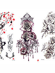 cheap -decal-style-temporary-tattoos-arm-shoulder-temporary-tattoos-3-pcs-flower-series-romantic-series-smooth-sticker-safety-body-arts-party-evening-daily