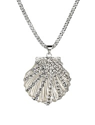 cheap -Women's Pendant Necklace Long Shell Ladies European Fashion Acrylic Alloy Silver 73 cm Necklace Jewelry 1pc For Evening Party Valentine