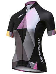 cheap -Mysenlan Women's Short Sleeve Cycling Jersey Black Patchwork Bike Jersey Top Mountain Bike MTB Road Bike Cycling Breathable Quick Dry Sports Polyester Clothing Apparel / Expert / Expert / Italian Ink