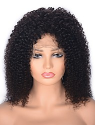 cheap -Human Hair Lace Front Wig Middle Part style Indian Hair Afro Curly Natural Wig 130% 150% Density with Baby Hair Party Women Medium Size For Black Women Women's Medium Length Wig Accessories
