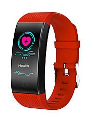abordables -qw18 hommes smartwatch android ios bluetooth étanche moniteur de fréquence cardiaque mesure de la pression artérielle écran tactile calories brûlées podomètre rappel d'activité traqueur traqueur de