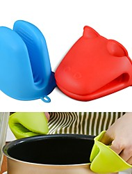 cheap -Hippo Frog Shape Silicone Insulated Gloves Oven Mitt Heat Resistant