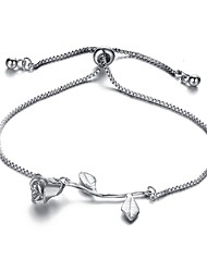 cheap -Women's Chain Bracelet Classic Retro Roses Leaf Ladies Romantic Fashion Alloy Bracelet Jewelry Gold / Silver / Rose Gold For Daily Office & Career