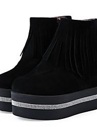 cheap -Women's Boots Platform PU Comfort Fall & Winter Black / White / EU36