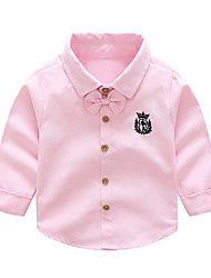 cheap -Kids Boys' Active Basic Daily School Solid Colored Long Sleeve Regular Cotton Shirt Blushing Pink