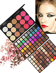 cheap -123 Colors Eyeshadow Palette Bronzers Highlighters Matte Shimmer Eye Blush Dressing up Waterproof Matte Shimmer Multi Color Glitter Shine lasting smoky Waterproof Long Lasting Daily Makeup Halloween