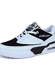 cheap -Men's Comfort Shoes PU Summer Athletic Shoes Walking Shoes Black / Pink / White / Black / White
