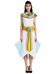 cheap -Egyptian Costume Highschool Women's Halloween Costume For Polyster Solid Colored Halloween Halloween Carnival Masquerade Dress Shawl Belt / Headwear