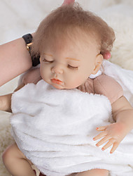cheap -OtardDolls Reborn Doll Baby Boy 18 inch lifelike Eco-friendly Hand Made Child Safe Parent-Child Interaction Hand Rooted Mohair Kid's Boys' / Girls' Toy Gift / Hand Applied Eyelashes / Floppy Head