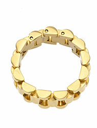 cheap -Men's Ring 1pc Gold Silver Steel Stainless Round Geometric European Trendy Hip-Hop Street Club Jewelry Stylish Link / Chain Creative Cool