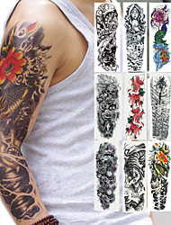 cheap -2 pcs Temporary Tattoos Safety brachium Environmentally Friendly Ink / Decal-style temporary tattoos