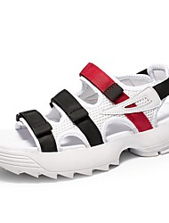 cheap -Men's Comfort Shoes Mesh Summer Sandals Black / White / Blue / Outdoor