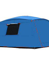 cheap -8 person Cabin Tent Family Tent Outdoor Lightweight Windproof UV Resistant Double Layered Poled Camping Tent >3000 mm for Camping / Hiking / Caving Picnic Oxford Cloth 365*365*220 cm
