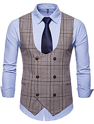 cheap -Cotton / Polester / Cotton Blend Business / Wedding Party Work / Casual Plaid / Classic / Vintage