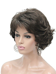 cheap -Synthetic Wig Curly Layered Haircut Wig Short Ash Brown Synthetic Hair Women's Synthetic Dark Brown StrongBeauty