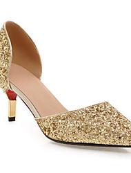 cheap -Women's Heels Stiletto Heel Synthetics Comfort / Basic Pump Spring Black / Gold / Silver / Daily