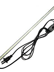 cheap -ZDM 1PC Waterproof 15W 100CM 144 x 2835 SMD Rigid LED Light Bars AC220V Cold White/Warm White Light EU/US Plug with Switch