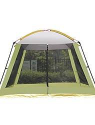 cheap -8 person Screen Tent Screen House Outdoor UV Resistant Rain Waterproof Breathability Single Layered Poled Camping Tent 2000-3000 mm for Camping / Hiking / Caving Picnic Terylene 310*310*210 cm