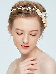 cheap -Alloy Headbands with Imitation Pearl / Floral 1pc Wedding / Party / Evening Headpiece
