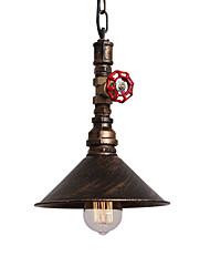 Недорогие -винтажные промышленные трубы подвесные светильники металлический оттенок ресторан кафе бар декорация освещение с 1-свет окрашены отделкой