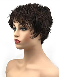 cheap -Synthetic Wig Curly Pixie Cut Wig Short Dark Brown / Dark Auburn Synthetic Hair Women's Synthetic Dark Brown StrongBeauty