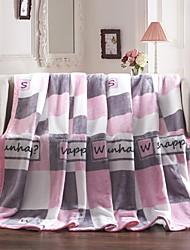 cheap -Sofa Throw, Geometric Cotton / Polyester Comfy Blankets