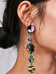 cheap -Women's Drop Earrings Long Blessed Ladies Vintage Bohemian Korean Earrings Jewelry Blue / Pink / Black / White For Party / Evening Formal 1 Pair