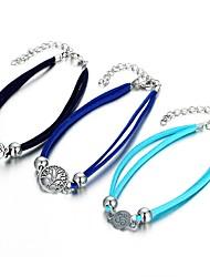 cheap -Ankle Bracelet Statement Ladies Women's Body Jewelry For Going out Bikini Stylish PU(Polyurethane) Alloy Tree of Life life Tree Blue Black Light Blue