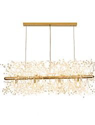 cheap -LED Chandeliers Firework Stainless Steel Crystal Island Pendant Lighting With 12-Lights G9 Bulb Base Electroplated Gold Finish