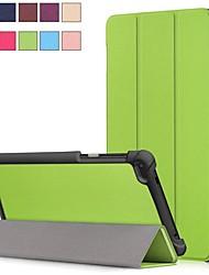 abordables -Coque Pour Lenovo Lenovo Tab 7 Avec Support / Magnétique Coque Intégrale Couleur Pleine Dur faux cuir