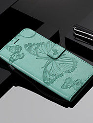 cheap -Phone Case For Samsung Galaxy Full Body Case Leather Wallet Card A6 (2018) A6+ (2018) A3 A5 A8 2018 A8+ 2018 A5(2016) A3(2016) Wallet Card Holder with Stand Butterfly Hard PU Leather