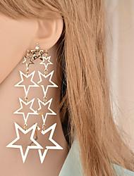 cheap -Women's Drop Earrings Long Star Ladies European Trendy Hyperbole Earrings Jewelry Gold For Masquerade Holiday 1 Pair
