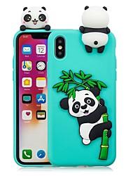 cheap -Case For Apple iPhone X / iPhone 8 Plus / iPhone 8 DIY Back Cover Panda Soft TPU