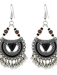 cheap -Women's Synthetic Tanzanite Drop Earrings Long Ladies Asian Vintage Ethnic Fashion Earrings Jewelry Black / Red / Blue For Party Going out 1 Pair